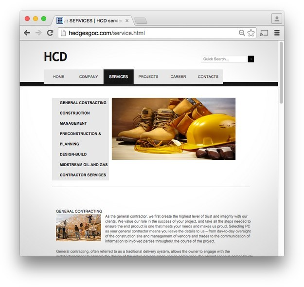 HCD's services page